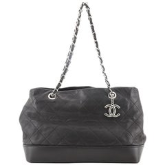 Chanel CC Soft Charm Tote Quilted Lambskin Medium