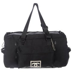 CHANEL CC Sport Line Duffle Travel Bag