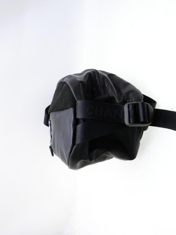 befe074dc3ca Chanel Cc Sports Logo Bum Fanny Pack 232647 Black Vinyl Cross Body Bag For  Sale at 1stdibs