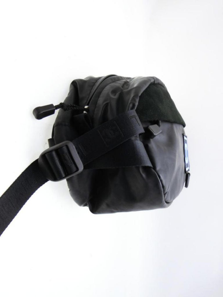 eedc11fdf425 Chanel Cc Sports Logo Bum Fanny Pack 232647 Black Vinyl Cross Body Bag For  Sale 2