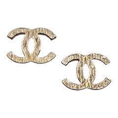 CHANEL CC Stud Earrings
