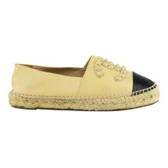 Chanel CC Studded Leather Espadrilles