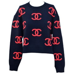 CHANEL  CC Sweater  Size 36 New With Tags
