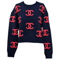 CHANEL  CC Sweater  Size 38 New With Tags
