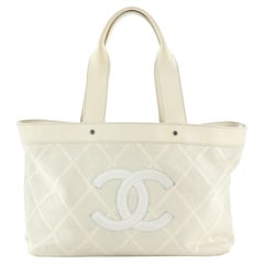Chanel CC Tote Perforated Leather East West