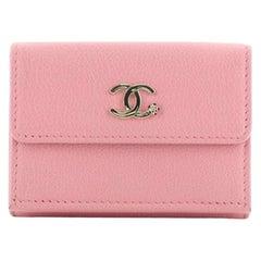 Chanel CC Trifold Flap Wallet Goatskin Small