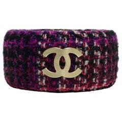 Chanel CC Tweed Cuff