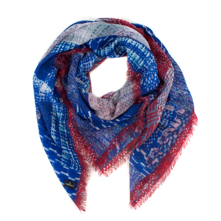 5c21b11a5f0 Chanel CC tweed-print cashmere scarf For Sale at 1stdibs