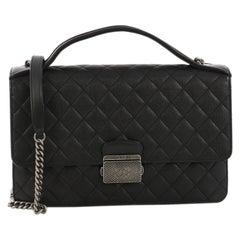 Chanel CC University Flap Bag Quilted Goatskin Medium