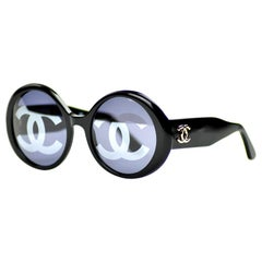 CHANEL CC Vintage Black Sunglasses