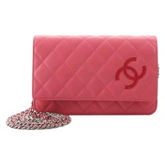 Chanel CC Wallet on Chain Quilted Lambskin