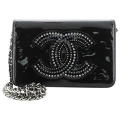 Chanel CC Wallet on Chain Strass Embellished Patent
