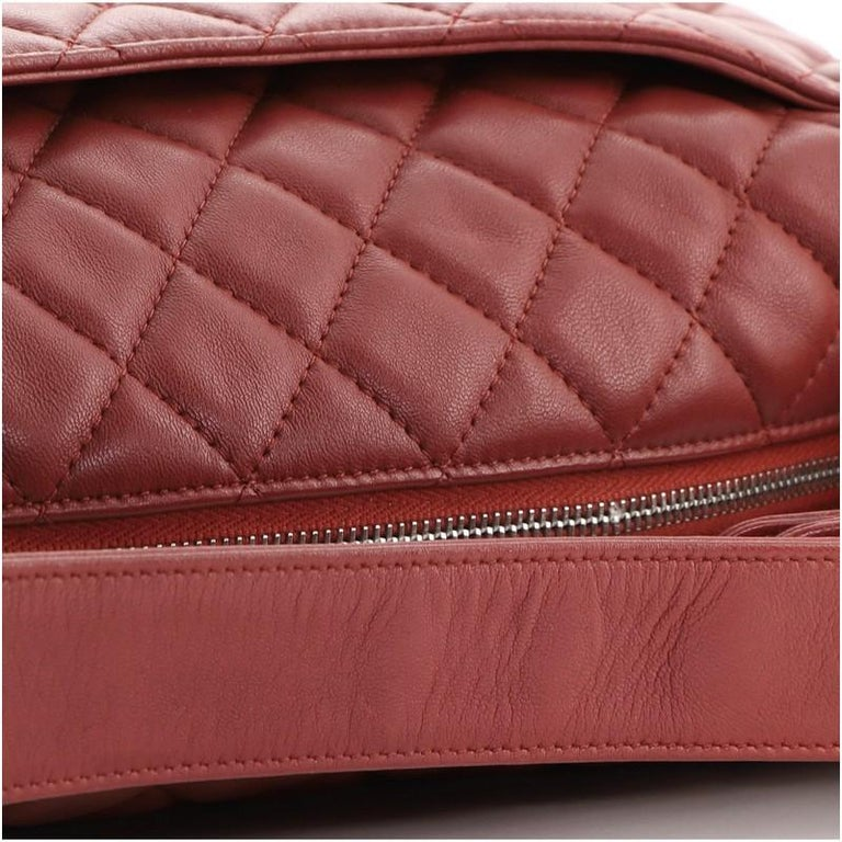 Chanel CC Zip Hobo Quilted Lambskin Small For Sale 3