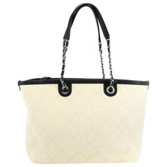 Chanel CC Zip Tote Quilted Caviar Small