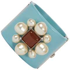 Chanel Celeste Pearls & Gripoix Cuff Bracelet