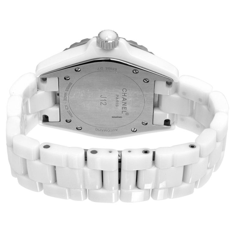 Chanel Ceramic and Stainless Steel Watch In Excellent Condition For Sale In Miami, FL