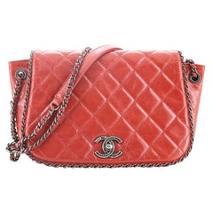 Chanel Chain Around Accordion Flap Bag Quilted Leather Small
