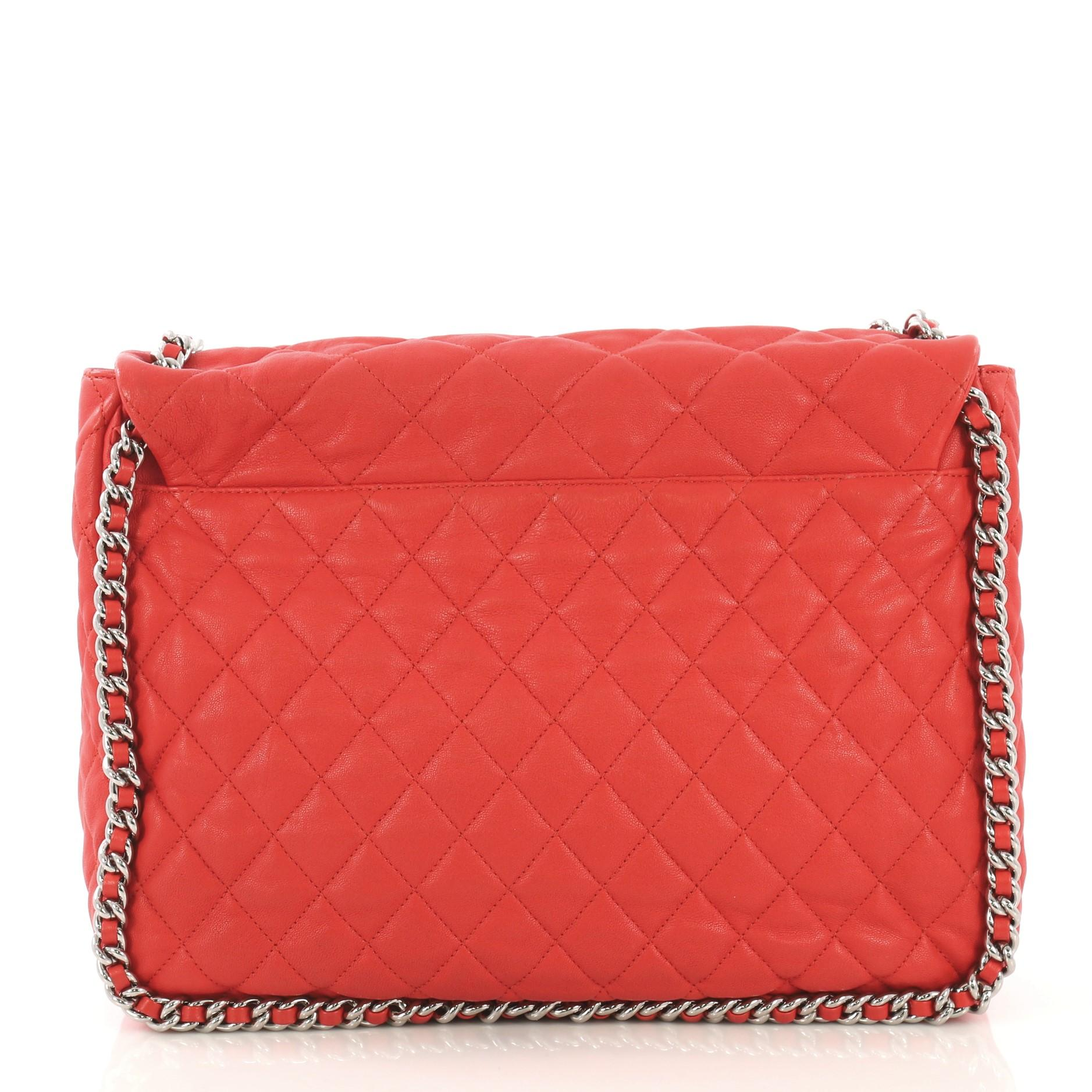 1e923c10dc37 Chanel Chain Around Flap Bag Quilted Leather Maxi For Sale at 1stdibs