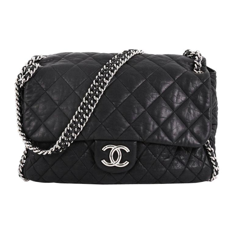 e5802823612e Chanel Chain Around Flap Bag Quilted Leather Maxi For Sale at 1stdibs