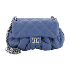 Chanel Chain Around Flap Bag Quilted Leather Small