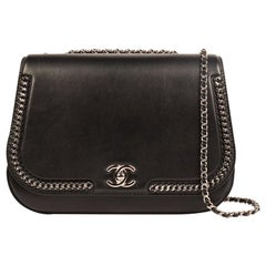 Chanel Chain Around Medium Crossbody Black Flap Bag