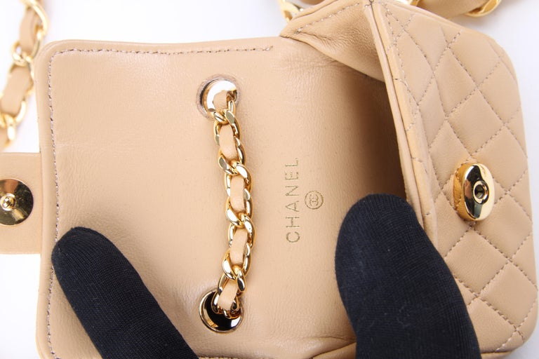 Beige Chanel Chain Belt Bag - beige For Sale