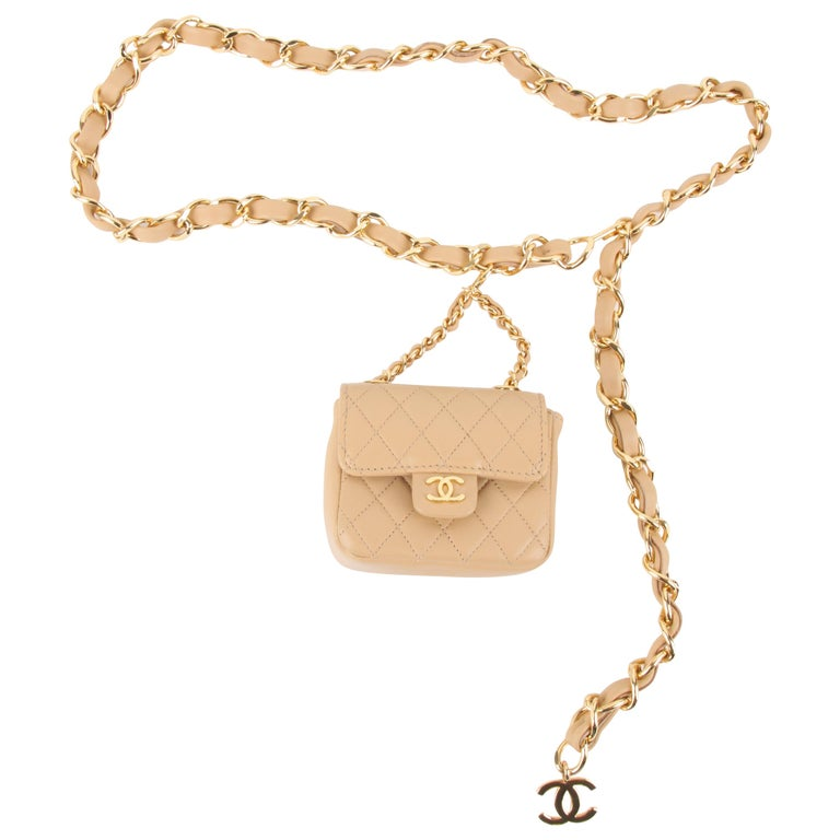 Chanel Chain Belt Bag - beige For Sale
