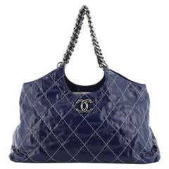 Chanel  Chain CC Cabas Stitched Glazed Calfskin Large