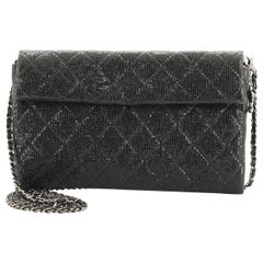 Chanel Chain Clutch Quilted Glittered Calfskin