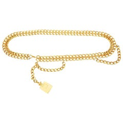 "Chanel Chain ""Coco Chanel"" Perfume Dangler Link Belt"