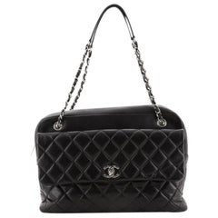 Chanel Chain Flap Bowling Bag Quilted Lambskin Large
