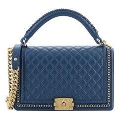 Chanel Chain Handle Boy Flap Bag Quilted Calfskin New Medium