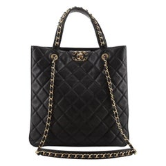 Chanel Chain Infinity Shopping Tote Quilted Lambskin Large
