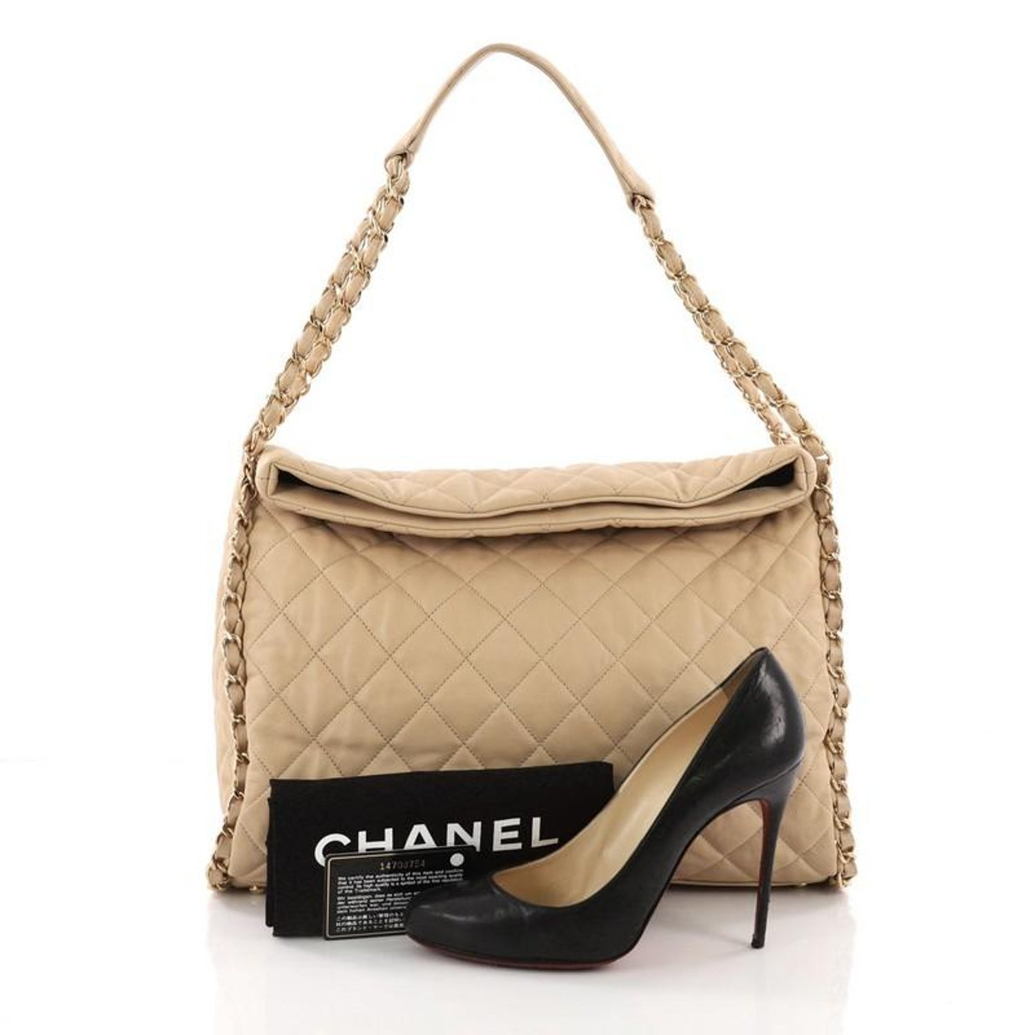 7656619804c4 Chanel Chain Me Hobo Quilted Leather Large at 1stdibs