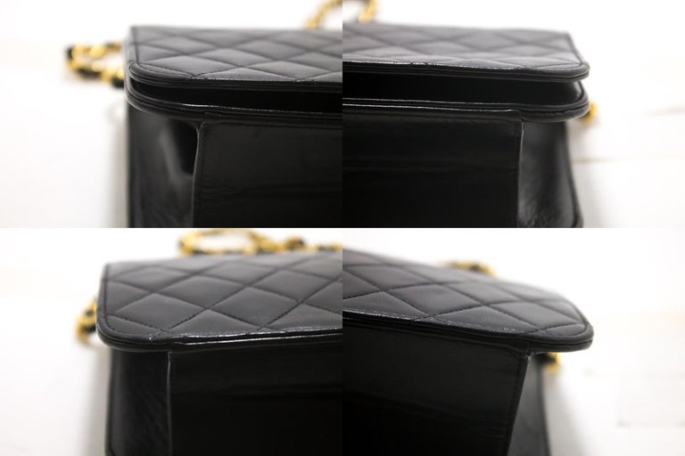 CHANEL Chain Shoulder Bag Black Clutch Flap Quilted Lambskin For Sale 3