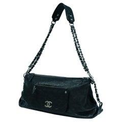CHANEL chain shoulder  Womens shoulder bag black x silver hardware