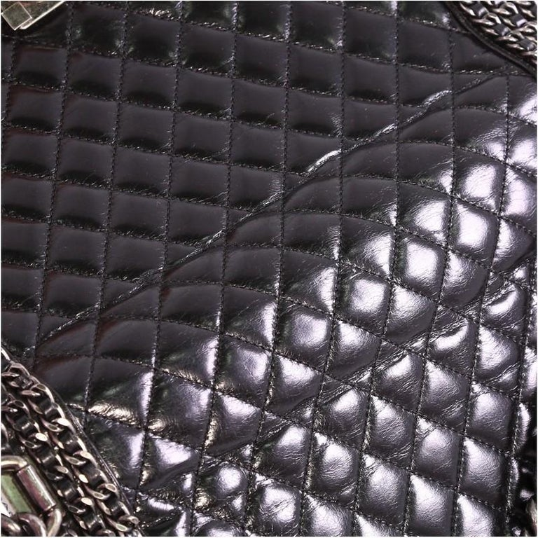 8d3d0ece3678ab Chanel Chained Boy Flap Bag Quilted Glazed Calfskin New Medium For Sale 3