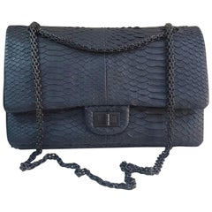 Chanel Chanel Anthracite Python 2.55 Reissue Double Flap Shoulder Bag