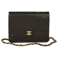 Chanel Chanel Black Quilted Lambskin Mini Classic Single Flap Bag