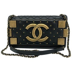 Chanel Chanel Lego Boy Brick Bag Black Leather