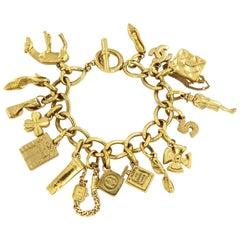Chanel Charm Bracelet with 16 Iconic Charms