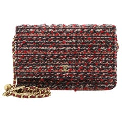 Chanel Charms Wallet on Chain Quilted Tweed