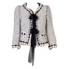 Chanel Chenille & Sequins Fringe Jacket