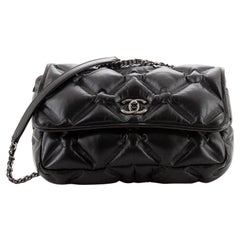 Chanel Chesterfield Flap Bag Quilted Calfskin Medium