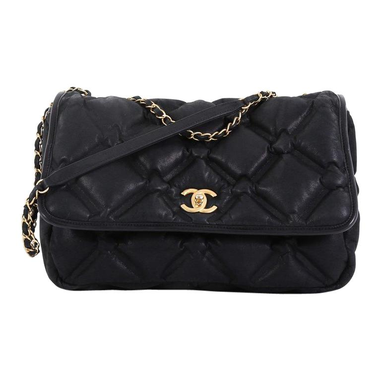 40bbcd5b60be Chanel Chesterfield Flap Bag Quilted Iridescent Calfskin Jumbo For Sale