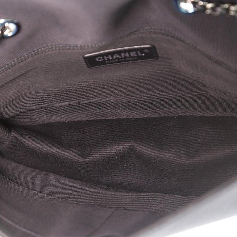 Chanel Chevron Couture Flap Bag Stitched Chevron Lambskin Medium For Sale 1
