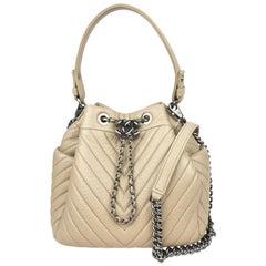 Chanel Chevron Quilted Sheepskin Small Boyish Bucket Bag