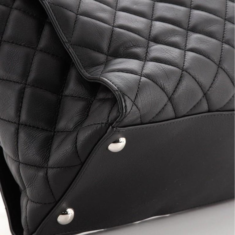 Chanel Chic and Soft Shopping Tote Quilted Calfskin Large For Sale 3