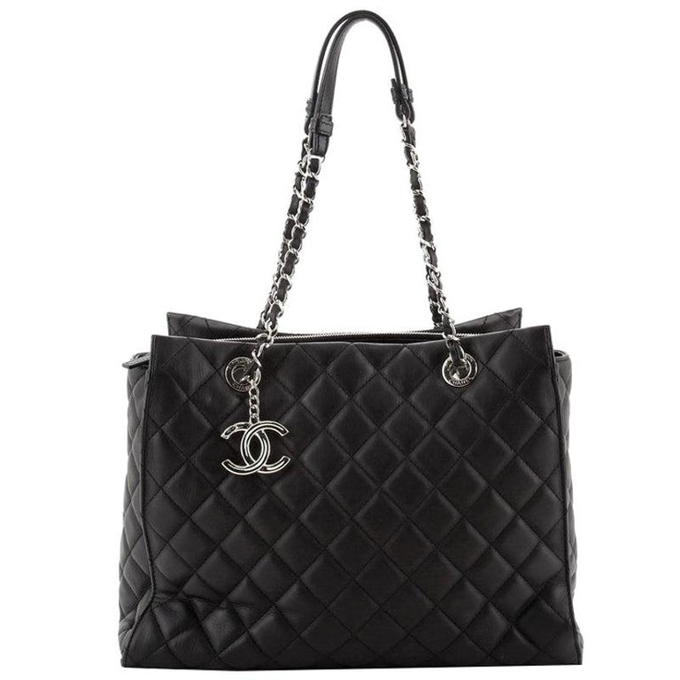 Chanel Chic and Soft Shopping Tote Quilted Calfskin Large For Sale