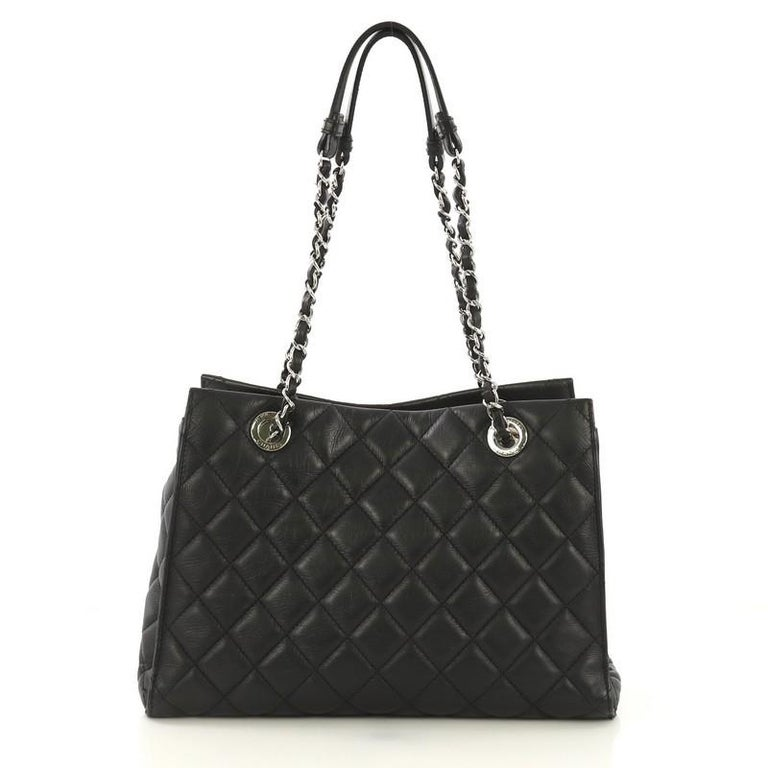 Chanel Chic and Soft Shopping Tote Quilted Calfskin Small In Good Condition In New York, NY